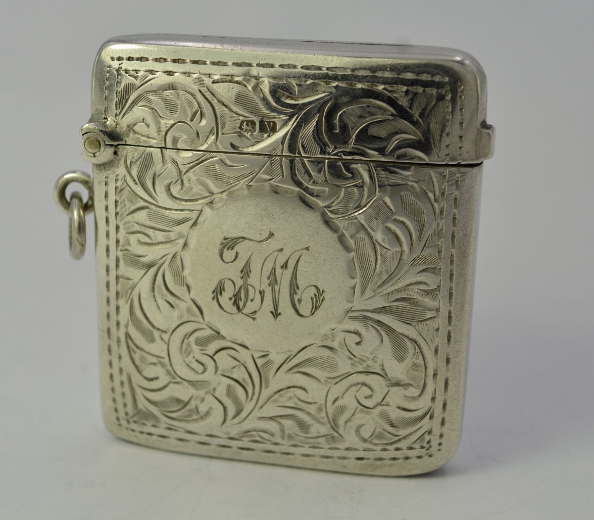 English Silver Matchbox / Pyrogen Circa 1920