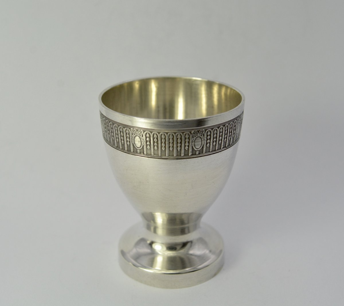 Egg Cup In Silver France Around 1920