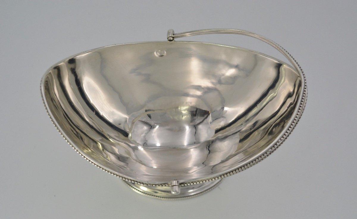 Corbeille Navette En Argent, Royaume- Uni Vers 1809-photo-2