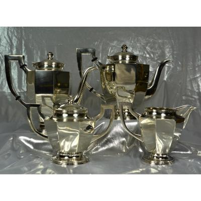 Tea-coffee Service In Sterling Silver Art Deco