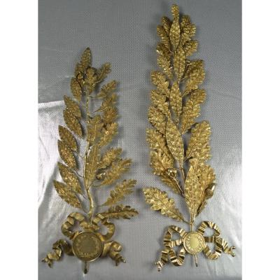 Silver And Vermeil Decorations, France End XIXth Century