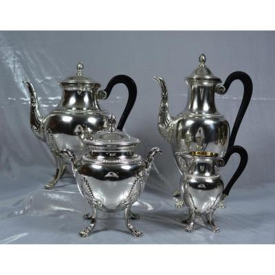 Service Coffee Tea Silver France XIXth Century
