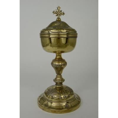 Ciborium In Vermeil France 19th Century Favier Frères