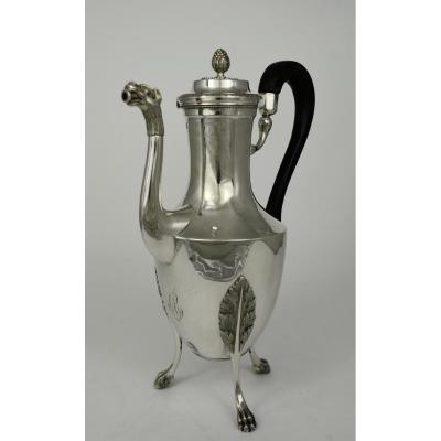Silver Jug, France 1798-1809 By Milleraud Bouty
