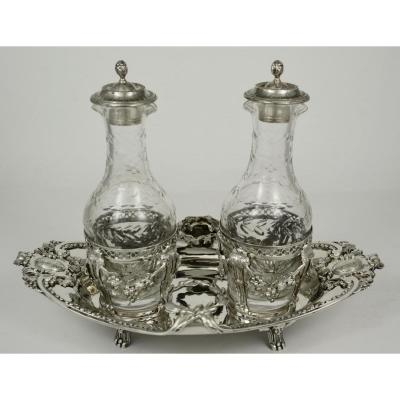 Silver Cruet-vinaigrier, France Paris 18th Century