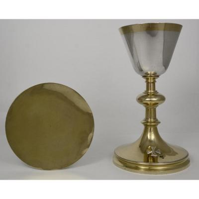 Chalice And Patene In Silver And Vermeil, France Circa 1890