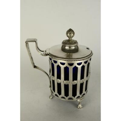 Mustard In Silver And Blue Crystal, France 1789