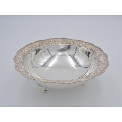 Salad Bowl In Silver, Foreign Work Of The Twentieth Century