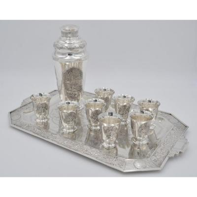 China. Silver Cocktail Service. Early 20th Century