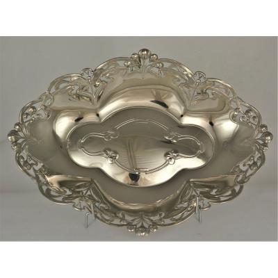 WMF,  Corbeille en metal argenté vers 1900 Art Nouveau