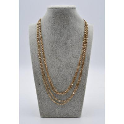 Necklace-gold Necklace And Pearls.