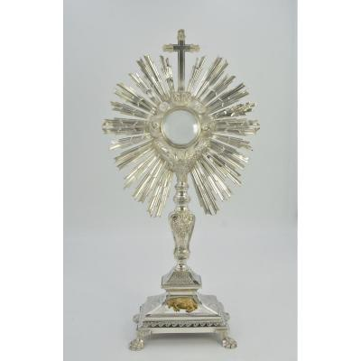 Monstrance In Silver Bronze And Silver. France By Alexis Renaud Orfèvre Around 1831-1838