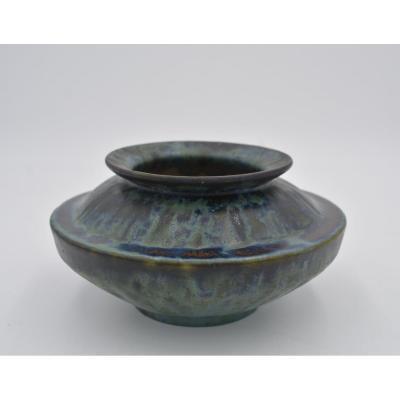 Dalpayrat Pierre- Adrien (1844-1910), Vase In Glazed Stoneware