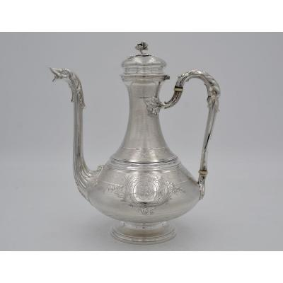Jug On Pedestal In Silver, France By Fray Et Fils Circa 1875