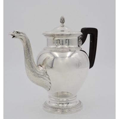 Silver Coffee Maker, France, By Boin - Tabouret Around 1900