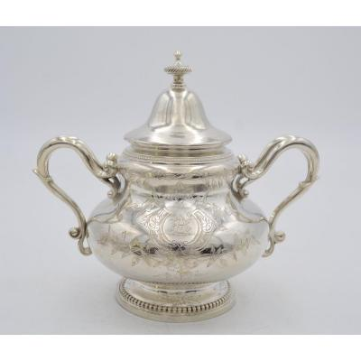 Silver Sugar Bowl, France Napoleon III Period