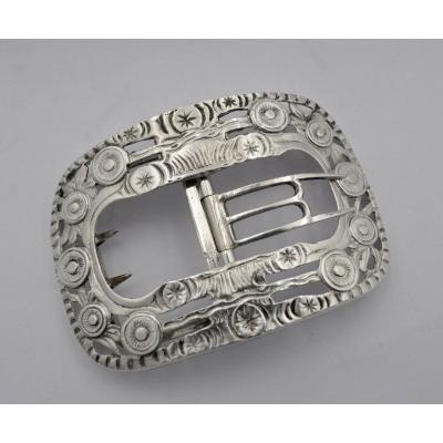 19th Century Silver Belt Buckle