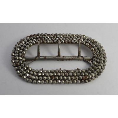 Boucle De Chaussure En Metal Clouté XVIIIe Siècle