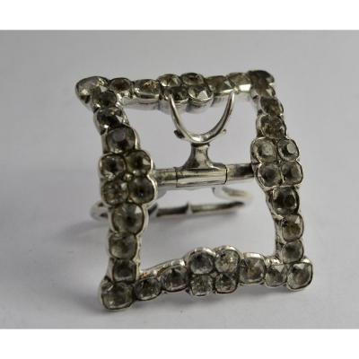 French Shoe Buckle 18th Century Circa 1756-1762