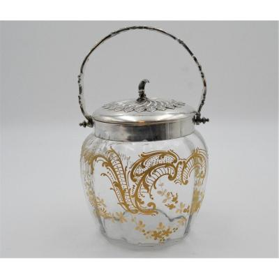Biscuit Bucket With Enameled Gilding