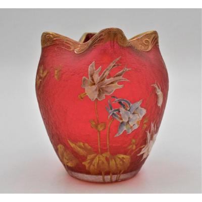 Vase  Montjoye époque Art Nouveau