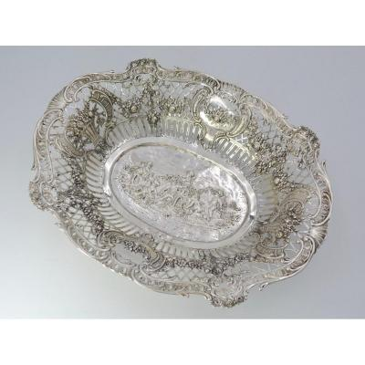 Openwork Silver Basket, Germany Around 1900