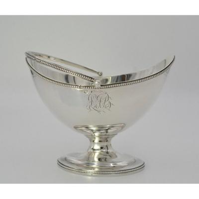 Silver Shuttle Basket, Uk Circa 1809