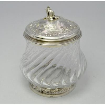 Crystal And Silver Pot France Nineteenth Century