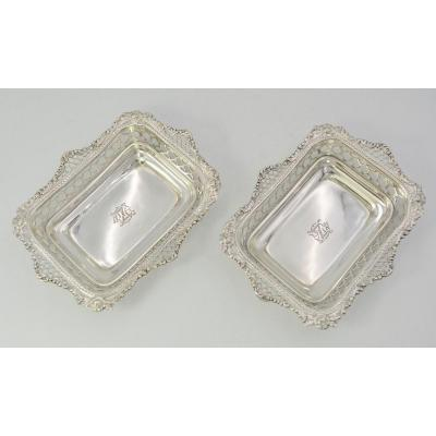 Pair Of English Silver Raviers, Nineteenth Century