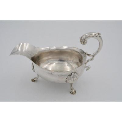 18th Century English Silver Sauce Boat