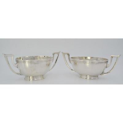 Poland. Pair Of Sauce Boats In Silver Early 20th Century