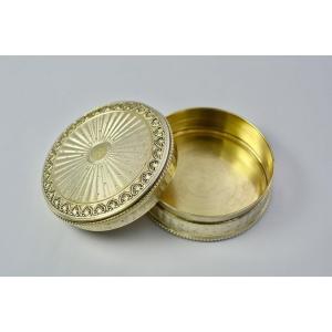 Silver Vermeil Snuff Box France Circa 1900