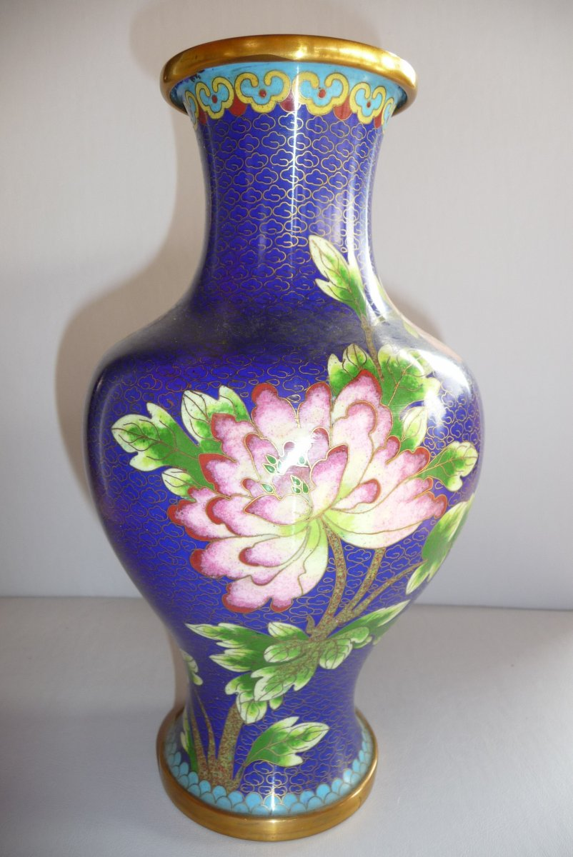 Cloisonne Vase China End XIXth Beginning XXth.