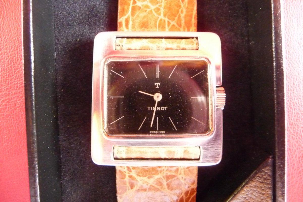 Montre Bracelet (unisexe) Tissot En Argent Avec Un (design Vintage) Années 70