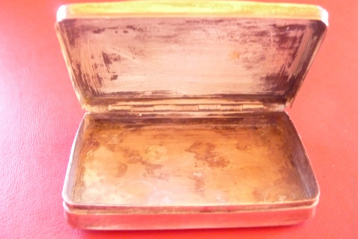 Engraved Snuffbox In Sterling Silver, Around 1840.-photo-4