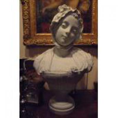 Bust Of Girl In Biscuit