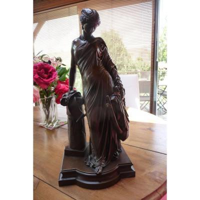 Bronze De James Pradier (1790-1852) Sapho à La Colonne