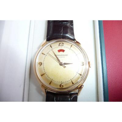 Men's Jeager Gold Le Coultre Bracelet Watch 1950's Automatic With Walking Reserve