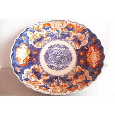 Plat Ovale En Porcelaine Imari Japon XIXeme.