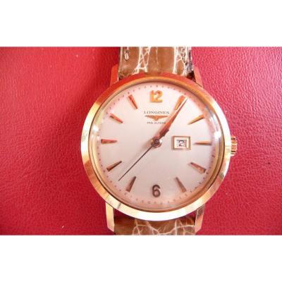 Montre Bracelet Homme Longines En Or  de 1957,Neuve De Stock.