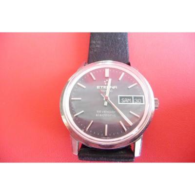 Eterna Sonic Men's Bracelet Watch. Diapason Movement From The 70s. New From Stock