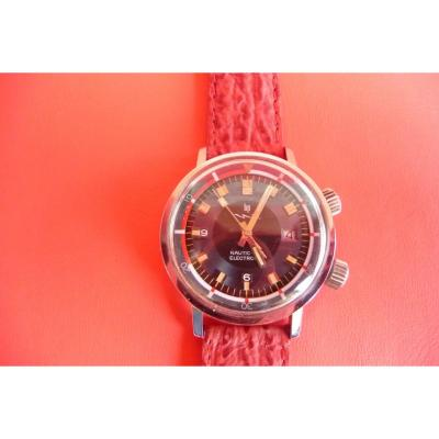 Men's Bracelet Watch (lip Nautic Ski) In Steel From The End Of The 60s