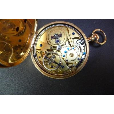 Quarts Ringing Watch In Gold With Duplex Escapement From Allegre In Toulon, Circa 1820