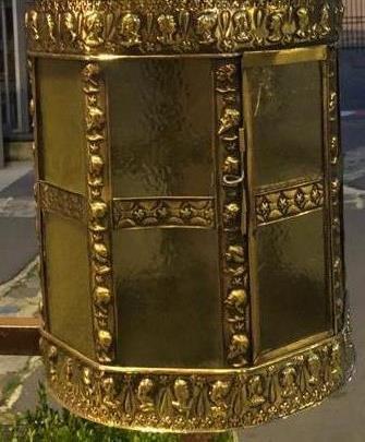 Lanterne En Laiton Repoussé époque XIXème-photo-4