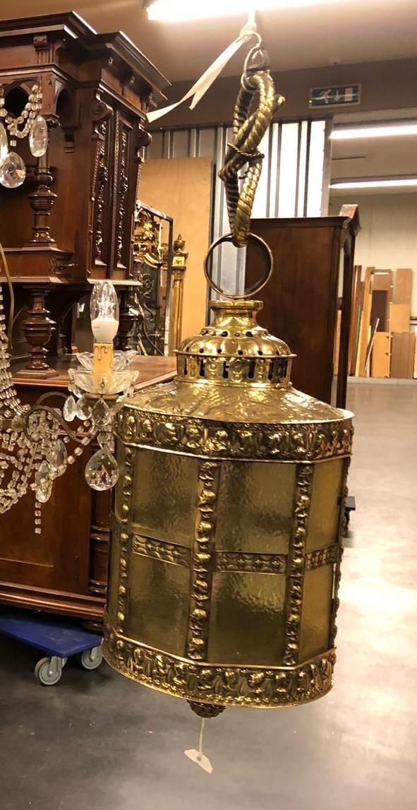 Lanterne En Laiton Repoussé époque XIXème-photo-1