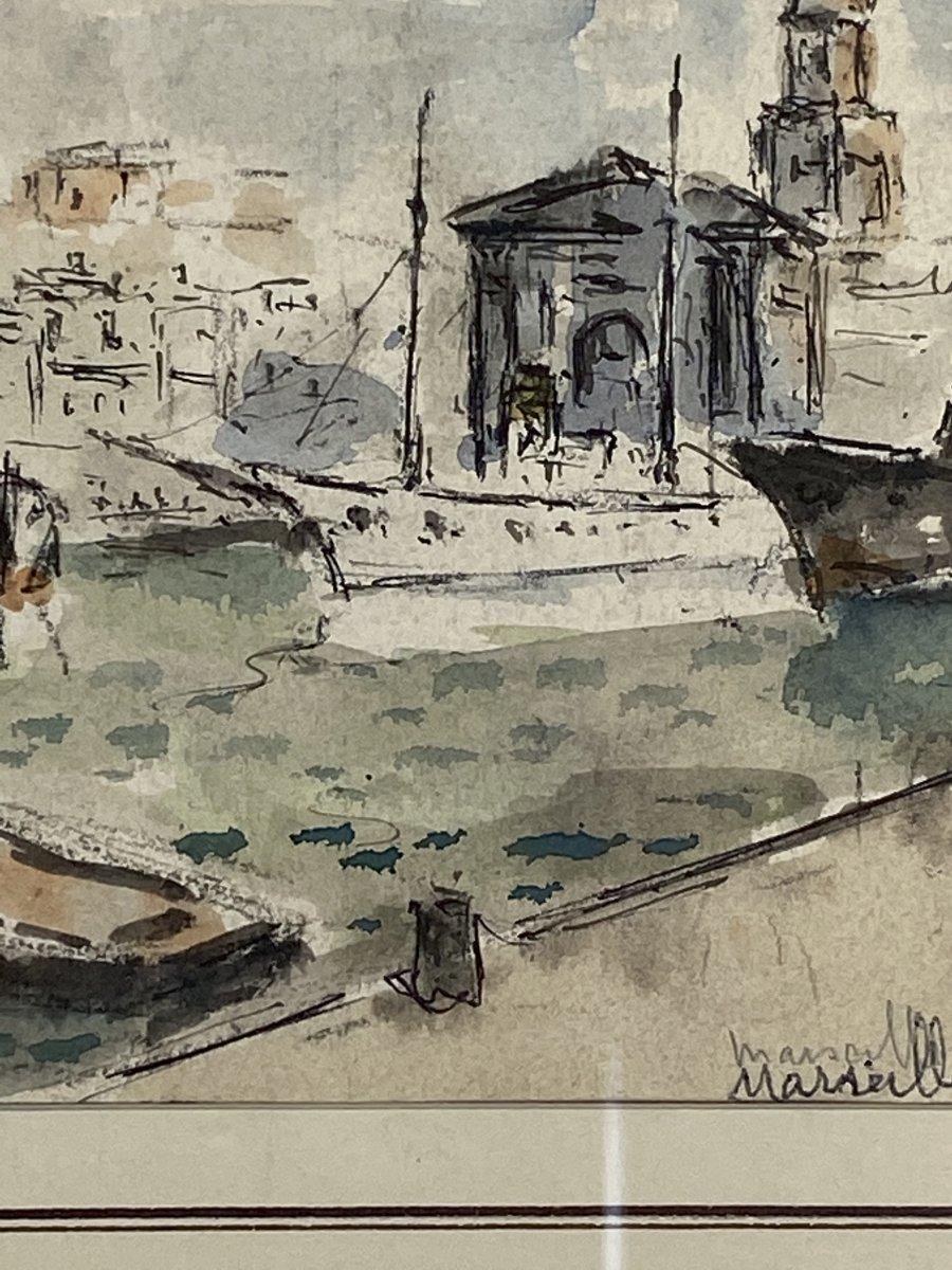 Albert Lepreux Le Port De Marseille-photo-3