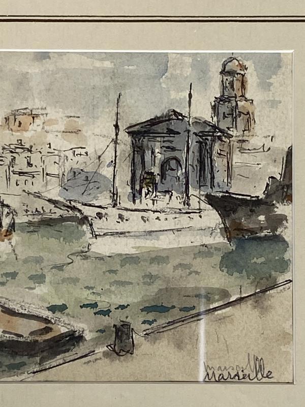 Albert Lepreux Le Port De Marseille-photo-4
