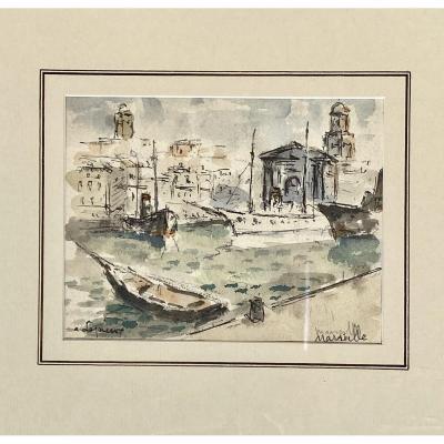 Albert Lepreux The Port Of Marseille
