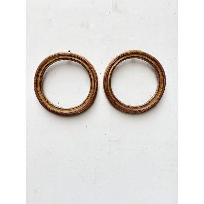 Pair Of Round Frames 19th Century
