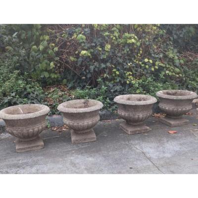 Suite De Quatre Vases Balustres